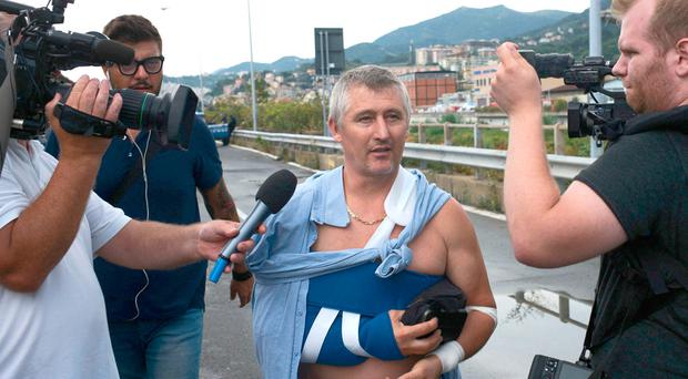 'Miracle' man tells of being thrown 10 metres into wall during Italian bridge collapse tragedy, as at least 35 are dead