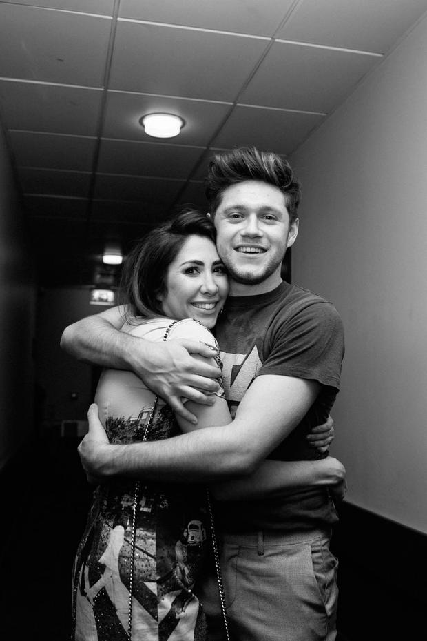 RuthAnne with Niall Horan after they peformed together in Dublin's 3Arena in May