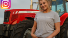 Anna Truesdale runs a dairy and sheep farm with her father.
