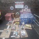 Approximately €100,000 worth of cannabis, €132,000 worth of cigarettes and tobacco as well as €20,000 in cash were recovered during the raid.