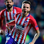 Saul Niguez celebrates after scoring Atletico Madrid's third goal. Photo: Getty Images