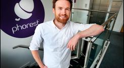 Ronan Perceval, CEO of Phorest, pictured at their offices in Dublin. Pic Steve Humphreys