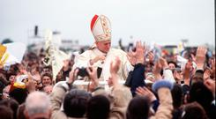 Warm welcome: More than 2.5 million came to see Pope John Paul II during his three-day visit. Photo: Anwar Hussein