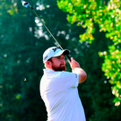Shane Lowry plays his shot from the third tee during the first round of the Wyndham Championship in Greensboro, North Carolina. Photo: Jared C. Tilton/Getty Images