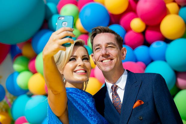 Anna Geary and Ryan Tubridy at the RTÉ New Season Launch 2018. Picture: Andres Poveda