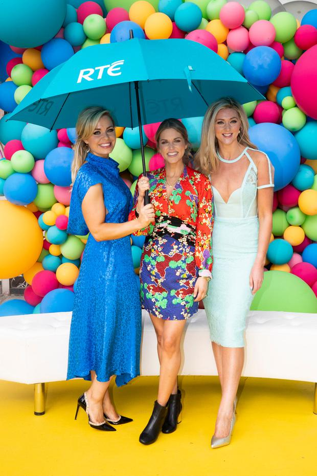 Anna Geary, Amy Huberman and Jenny Dixon at the RTÉ New Season Launch 2018. Picture: Andres Poveda