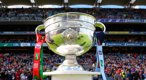 17 September 2017; A general view of the Sam Maguire cup prior to the GAA Football All-Ireland Senior Championship Final match between Dublin and Mayo at Croke Park in Dublin. Photo by Stephen McCarthy/Sportsfile