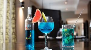True blue: A glass of Canto 5 is served up at the Twelve Hotel in Barna, Galway. Photo: Andrew Downes, Xposure