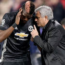 Jose Mourinho has insisted there are no issues between him and Paul Pogba. Photo: Getty Images