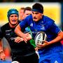 Max Deegan of Leinster makes a break during the Bank of Ireland Pre-season Friendly match between Leinster and Newcastle Falcons at Energia Park in Dublin.