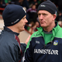 Galway manager Micheál Donoghue (l) and Limerick rival John Kiely. Photo: Sportsfile