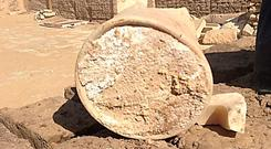 The 3,300-year-old cheese cannot be tested for its flavour as it was found to be laced with a deadly bacteria. It was made using a mixture of cow and sheep, or goat, milk