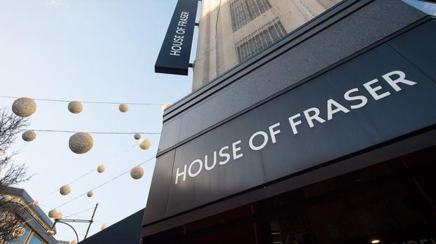 'The company behind House of Fraser collapsed last week, with Sports Direct owner Mike Ashley then swooping in to buy the retailer from administrators who had taken control.' Photo: Dominic Lipinski/PA