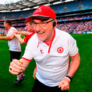 Tyrone manager Mickey Harte has a number of big decisions to make ahead of the All-Ireland SFC final against Dublin in two weeks' time. Photo: Sportsfile