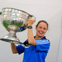 Caroline Currid with the Sam Maguire Cup