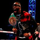 Deontay Wilder in the ring after the fight