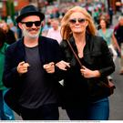 19 August 2018; Comedian Tommy Tiernan and wife Yvonne arrive for the GAA Hurling All-Ireland Senior Championship Final between Galway and Limerick at Croke Park in Dublin. Photo by Stephen McCarthy/Sportsfile