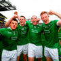Limerick players, from left, Mike Casey, David Dempsey, Shane Dowling and William O'Donoghue celebrate
