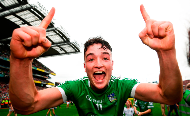 Kyle Hayes of Limerick celebrates