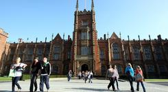 Queen's University, Belfast. Even if a student has not applied for college in the UK or Northern Ireland, it is possible to submit an application now through 'clearing'. Photo: PA
