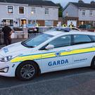 Gardai investigate the stabbing of a man at a house on Rutland Grove, Crumlin in Dublin. Picture:Arthur Carron