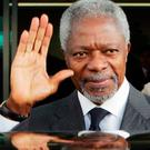 Kofi Annan was a former UN secretary-general. Picture: AP