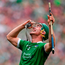 Limerick's Seán Finn celebrates at the final whistle after his team's victory. Photo: Brendan Moran/Sportsfile