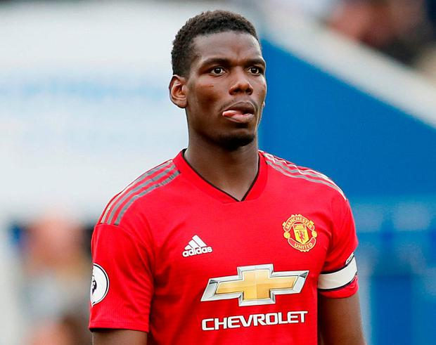 Paul Pogba all alone with his thoughts. Photo: David Klein/Reuters