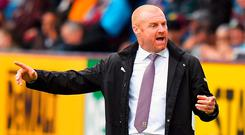 Burnley manager Sean Dyche. Photo: Dave Howarth/PA Wire