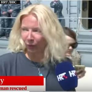 The woman identified as Kay. Source: Guardian video