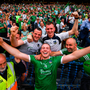 19 August 2018; Shane Dowling of Limerick celebrates with supportetrs following the GAA Hurling All-Ireland Senior Championship Final between Galway and Limerick at Croke Park in Dublin. Photo by Stephen McCarthy/Sportsfile