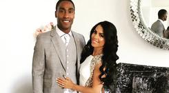 Simon Webbe and Ayshen Kemal at their engagement party in 2017