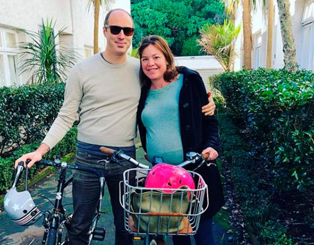 The 38-year-old shared photos of her 'beautiful Sunday morning' ride to the hospital in Auckland with her partner (Anne Genter / Instagram )