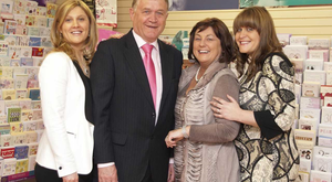 Michelle Daly in white jacket, her father Gerry and mother Pauline Naughton and to the right is her sister Aisling Naughton