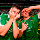 Barry Murphy, left, and Darragh O'Donovan of Limerick celebrate