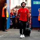 Liverpool's Mohamed Salah before the match
