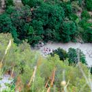 Rescuers work at the Raganello Gorge in Civita, Italy, Monday, Aug. 20, 2018. (Francesco Capitaneo/ANSA via AP)