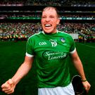 Shane Dowling soaks up the atmosphere after Limerick's All-Ireland victory at Croke Park on Sunday. Photo: Stephen McCarthy/Sportsfile