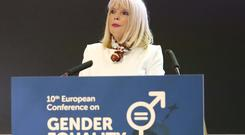 Junior Minister for Higher Education Mary Mitchell O'Connor at a conference on gender equality in Dublin yesterday. Photo: Sasko Lazarov/Photocall Ireland