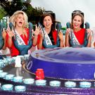 Enjoying Birds Amusements before the first part of the televised Rose of Tralee contest were Westmeath Rose Leanne Quinn; Carlow Rose Shauna Ray Lacey; New Zealand Rose Jolene McLaughlin; New York Rose Sarah Ward; and Kerry Rose Celine O'Shea. Photo: Steve Humphreys