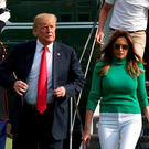 US President Donald Trump and first lady Melania return to the White House together on Sunday. Photo: Reuters