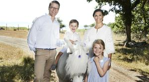 Crown Princess Victoria with husband Daniel and Princess Estelle and Prince Oscar