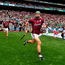 19 August 2018; David Burke of Galway enters the field past the Liam MacCarthy Cup prior to the GAA Hurling All-Ireland Senior Championship Final match between Galway and Limerick at Croke Park in Dublin. Photo by Seb Daly/Sportsfile