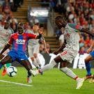 Liverpool's Naby Keita shoots at goal against Palace