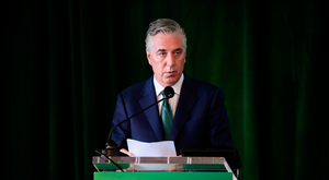 John Delaney, CEO, Football Association of Ireland, speaking during the Annual General Meeting at the Rochestown Park Hotel in Cork
