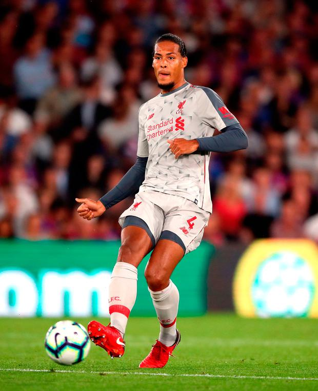 'If Liverpool go on to get five years' service out of Van Dijk then £15m per year for a central defensive linchpin is a fair enough price to play when he is influencing games to that degree.' Photo credit: Nick Potts/PA Wire