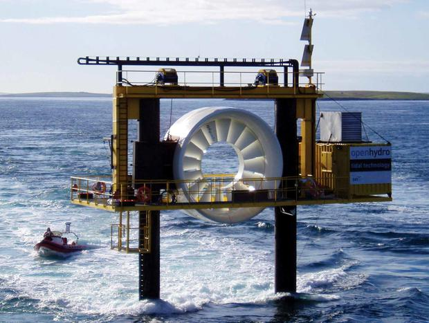 OpenHydro develops turbines that generate electricity from tidal energy.
