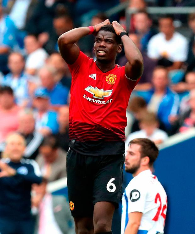 At a time when Pogba is keen to move to Spain, his relationship with manager Jose Mourinho is under real strain. Photo credit: Gareth Fuller/PA Wire