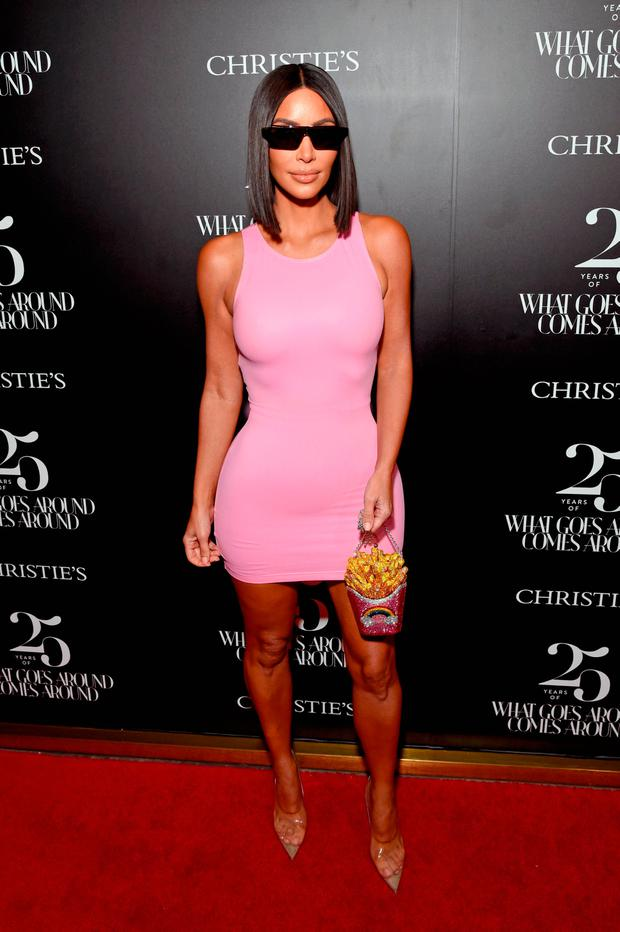 Kim Kardashian West attends Christie's x What Goes Around Comes Around 25th Anniversary Auction Preview at What Goes Around Comes Around on August 21, 2018 in Beverly Hills, California. (Photo by Michael Kovac/Getty Images for What Goes Around Comes Around)