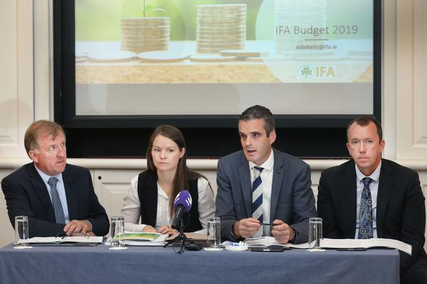 22/8/18 Pictured are Rural Development Chairman Joe Brady, IFA Economist Edel Kelly, IFA President Joe Healy & IFA Farm Business Chairman Martin Stapleton. Picture: Finbarr O'Rourke